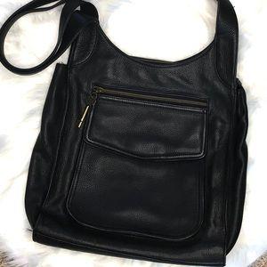 Fossil• Black Leather Shoulder Bag